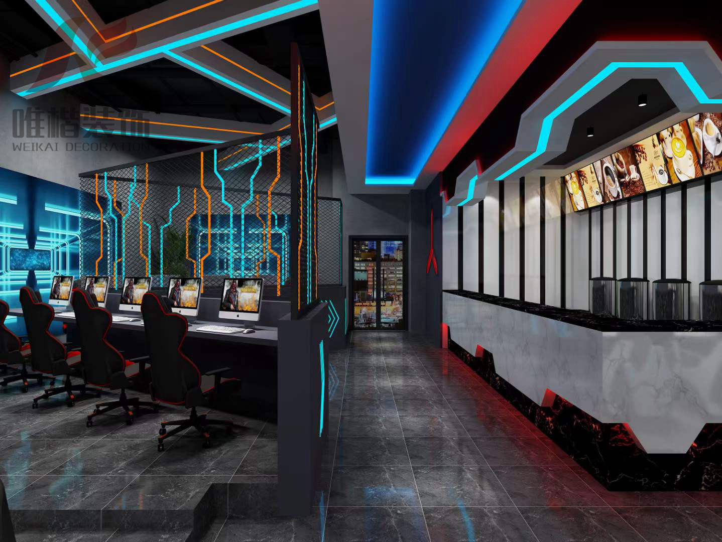重庆300平方米网吧装修要多少钱?有什么注意事项?