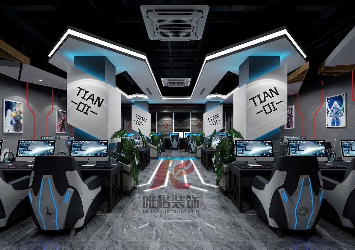 高档的重庆网吧装修设计是什么样的?
